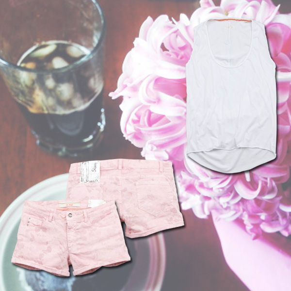 Pink Break www.40weft.com #pink #40weft #ss2014 #womenfashion #shorts #tee #top #fashionblogger #repin