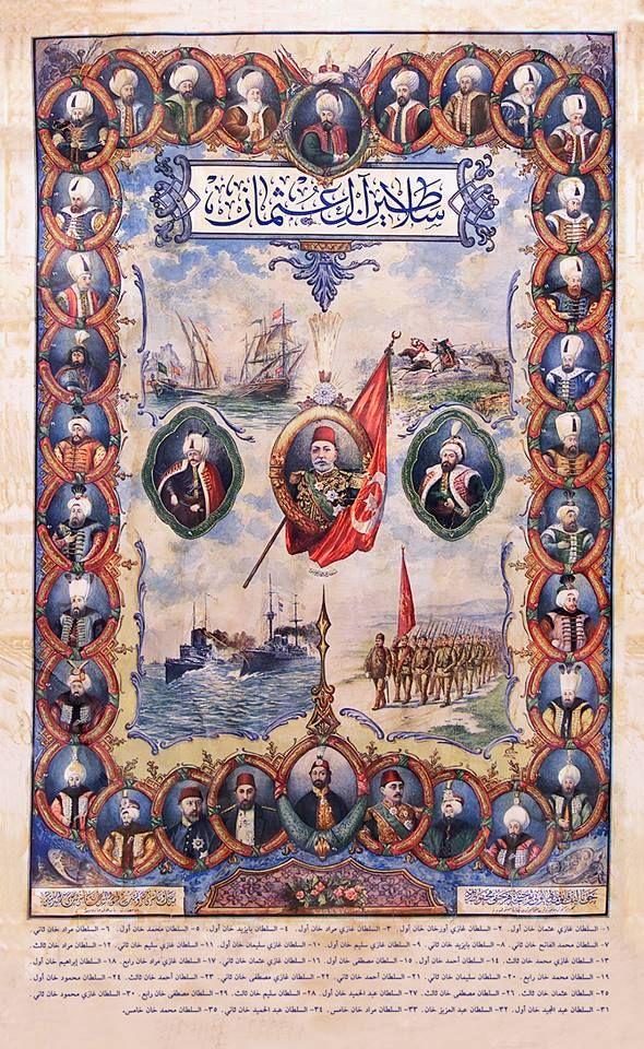 OTTOMAN SULTANS السلاطين العثمانيون OSMANLI SULTANLARI
