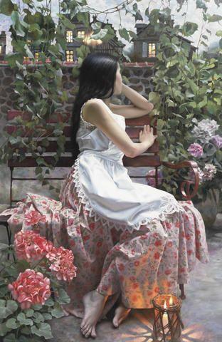 Andrei Belichenko (Russian, born 1974) Gazing at the window