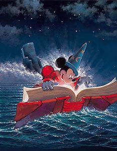 Mickey Mouse - Fantasia - Sorcery - Rodel Gonzalez - World-Wide-Art.com - $550.00 #Disney #RodelGonzalez