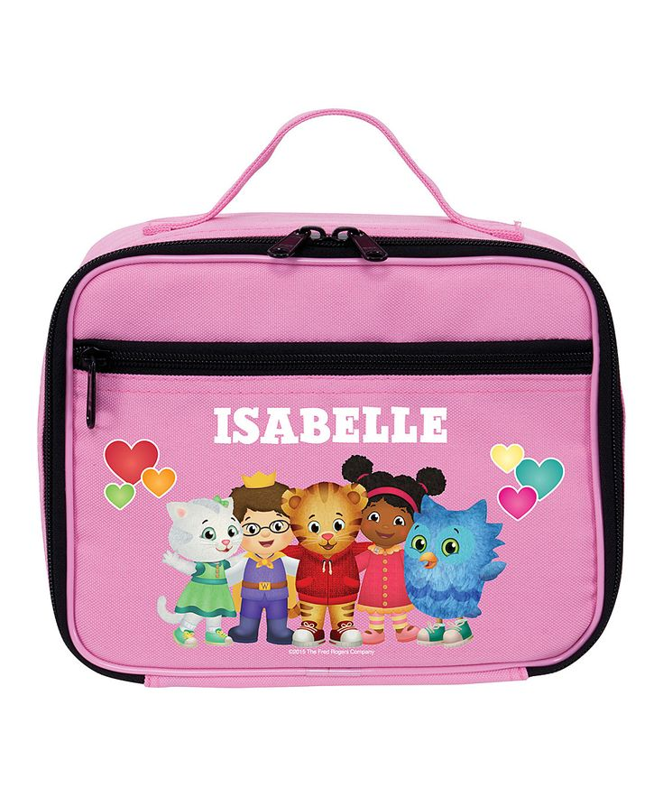 Daniel Tiger's Neighborhood Group Pink Personalized Lunch Bag