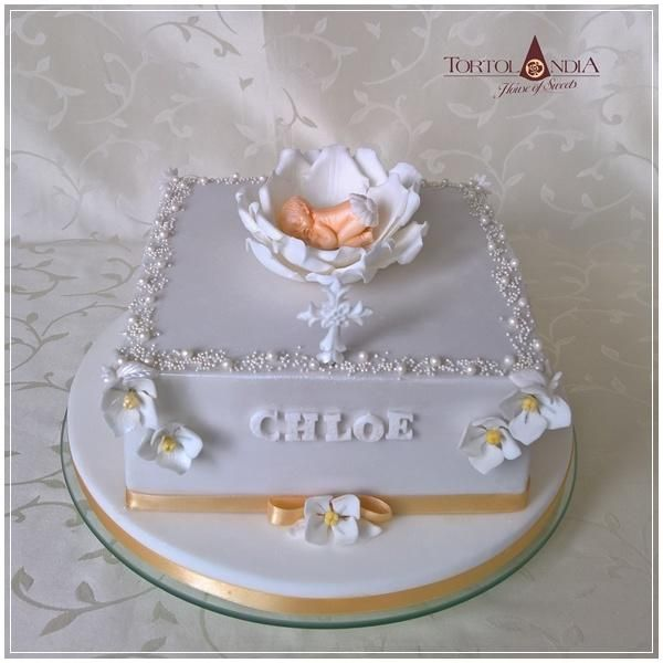 Christening cake for Chloe by Tortolandia