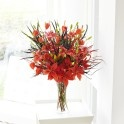 Extra Large Lily and Physalis Vase. Available in 3 different sizes. http://www.lamberdebie.ie/shop/subcategory/autumn-flowers