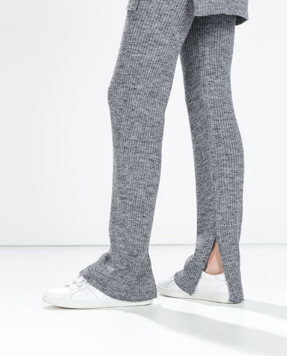 Image 5 Of Ribbed Flared Trousers From Zara Comfy
