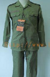 Chaqueta y Pantalon verde militar. (Policias)