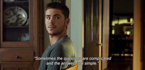 Zac Efron quote the lucky one