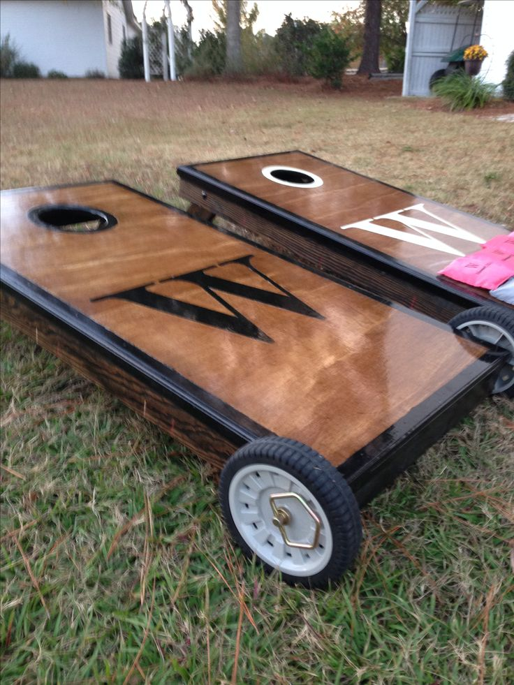 corn hole boards bride and groom