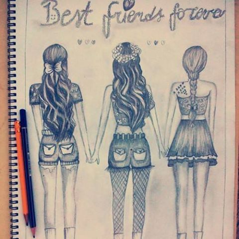 artwork, awesome, beautiful, best friends, desenho, drawn, friendship, girl, hair, painting, paiting, wow, doriane<3