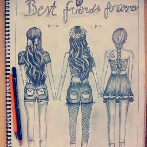 artwork, awesome, beautiful, best friends, desenho, drawn, friendship, girl, hair, painting, paiting, wow, doriane<3