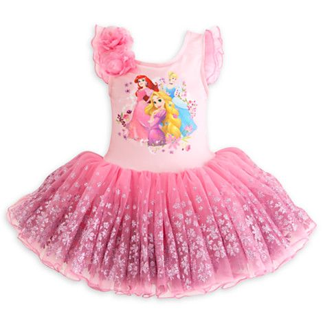 Disney Princess Deluxe Ballet Tutu Leotard For Kids