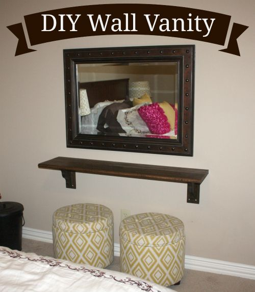 DIY your own Floating Wall Vanity.  This was for my guest room.