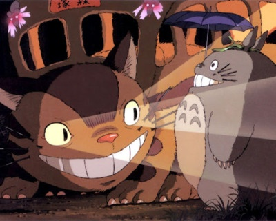 cat bus and totoro