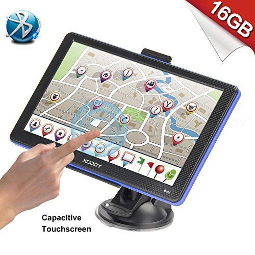Xgody 886BT Portable Car Truck GPS Navigation System Bluetooth 8GB ROM 7 Inch Capacitive Touchscreen SAT NAV Navigator with Lifetime Maps with 8GB TF Card. For product info go to:  https://www.caraccessoriesonlinemarket.com/xgody-886bt-portable-car-truck-gps-navigation-system-bluetooth-8gb-rom-7-inch-capacitive-touchscreen-sat-nav-navigator-with-lifetime-maps-with-8gb-tf-card/