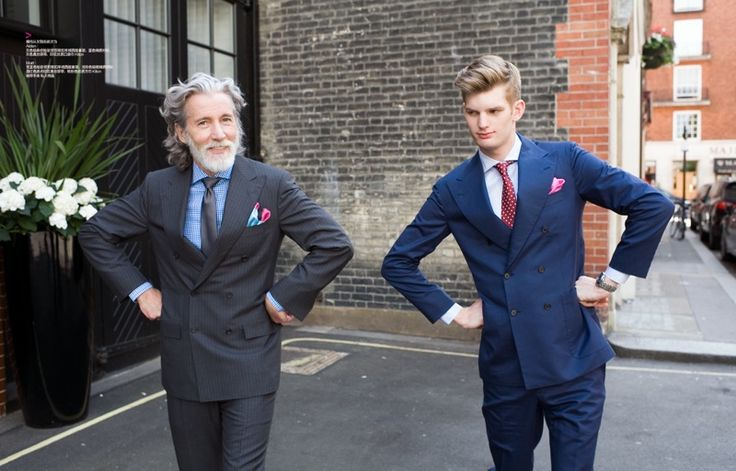 Aiden Shaw & Matt King are Father & Son for Harpers Bazaar China