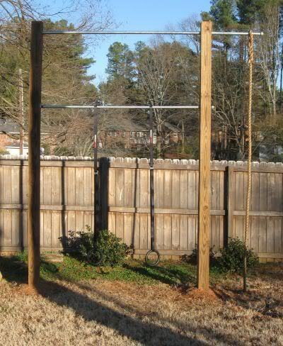 My Outdoor Pull Up/Rings/Rope Climbing Station. Outdoor GymOutdoor  FitnessBackyard ...