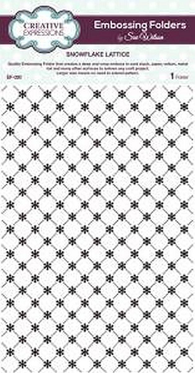 sue wilson embossing foldder - snowflake lattice