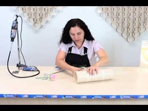 Aprenda a Fazer uma Luminária de PVC com tubo Plastilit! - YouTube