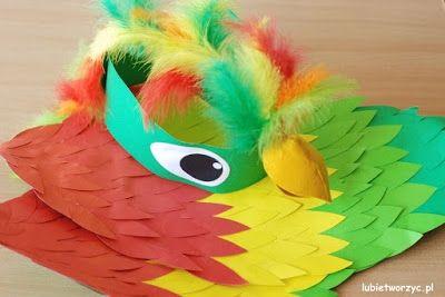 Zobacz zdjęcie Strój papugi - opaska + skrzydła w pełnej rozdzielczości