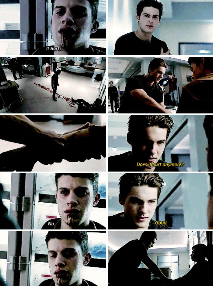 Teen Wolf 6x20 - you can't take pain if you don't care.