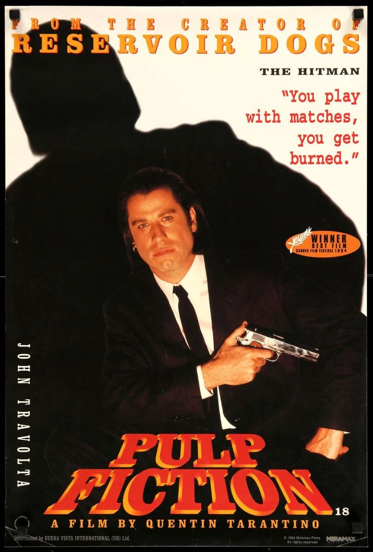 Pin by Fatisha Harris on Movie Posters   Pulp fiction, John ...