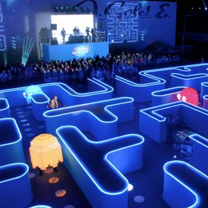 Bud Light's Real Life Pac-Man was one part live event, one part commercial, and one part giant experiential stunt. It brought an emotional storytelling layer to the brand and made it into something that would make you feel what it means to be #UpForWhatever. http://sambergen.com/Bud-Light-Real-Life-Pac-Man