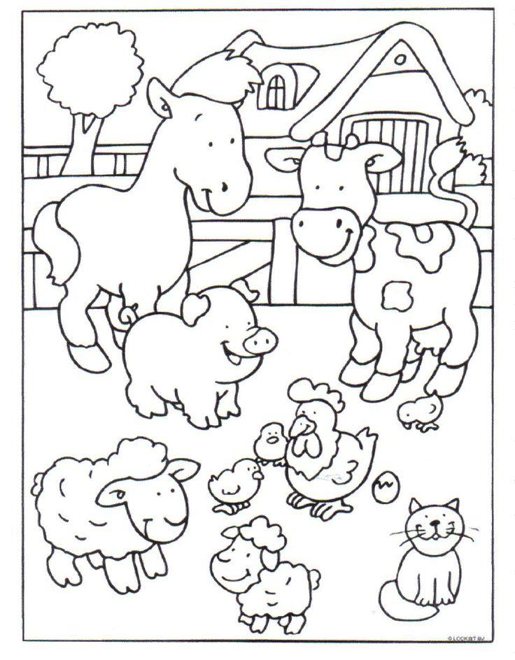 Kleurplaat: boerderij