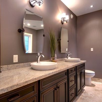 1198 best images about inside the purple house on for Dark purple bathroom ideas