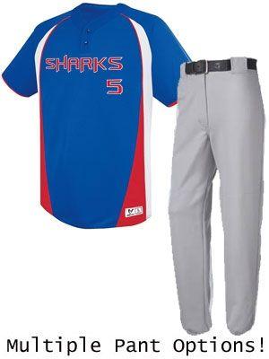 "Adult/Youth ""Bullet"" Baseball Uniform Set H12120-12121BAS-SET"