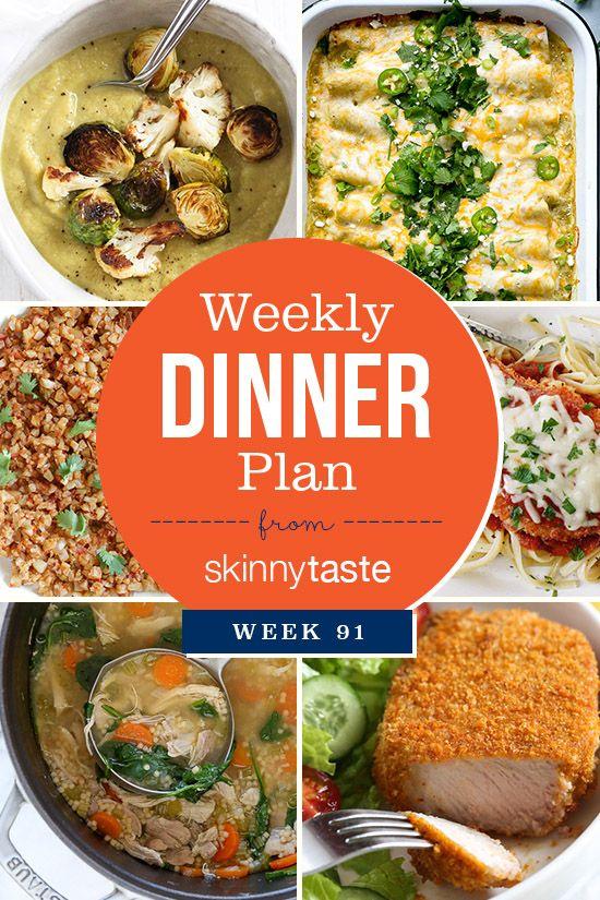 Skinnytaste Dinner Plan (Week 91)