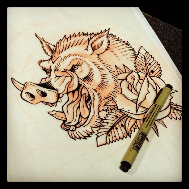 29 best boar tattoo images on pinterest tattoo ideas tattoo rh pinterest com Wild Boar Tattoos for Men bear tattoo designs for women