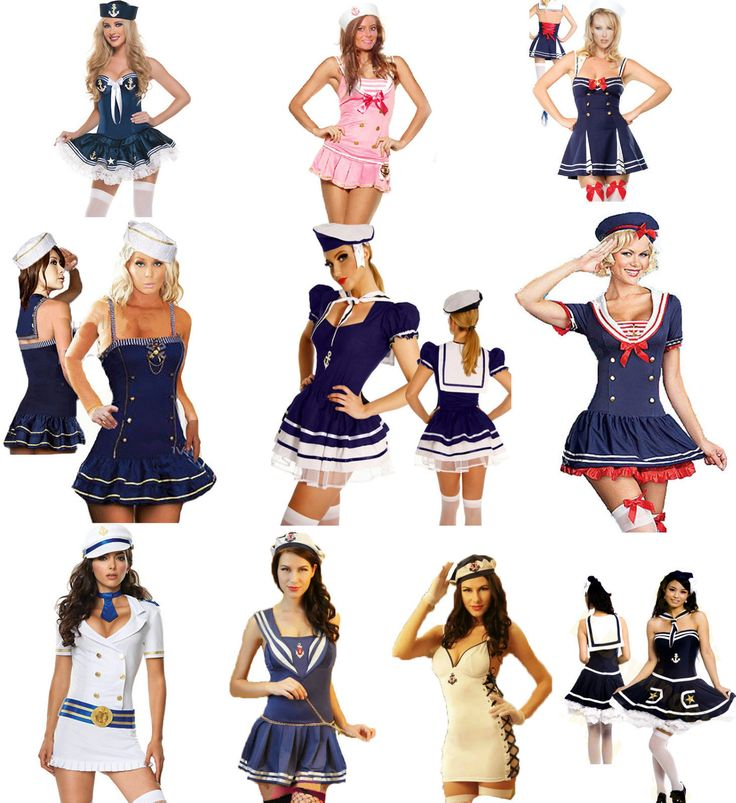 Sailor Fancy Dress Costume Party Outfit Hen Night Nautical Navy Sea Occupation