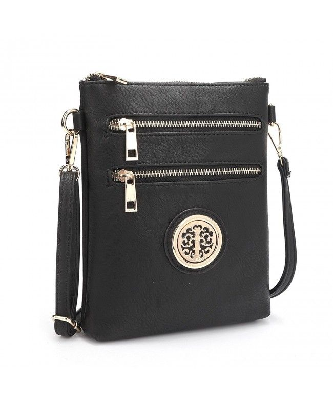 7eb94a926c3a Womens Classic Small Crossbody Bags Multi Pockets Messenger Bag Lightweight Shoulder  Bag - Black-s