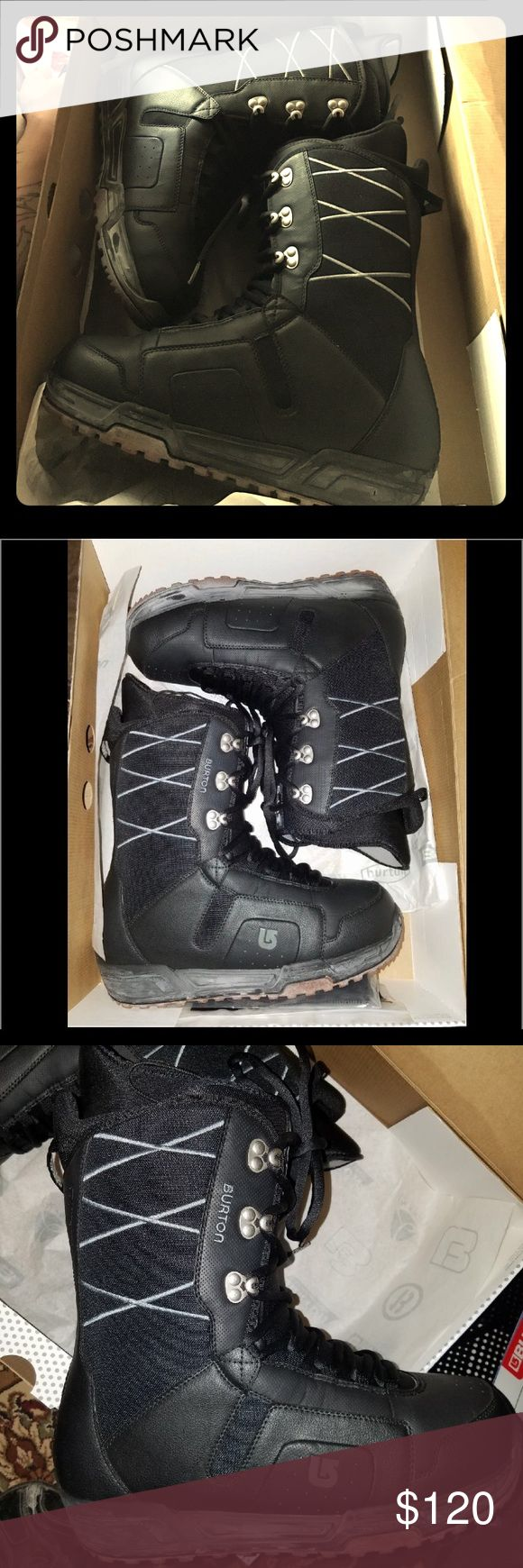 Burton black gray Men's snow boots Brand new, just been sitting in the closet. Burton Mend snow boots or snow boarding boots. (Just need bindings to make it snowboard boots) black gray moto boots 2006 Burton Shoes Boots