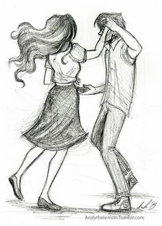 two people dancing drawing - Google Search