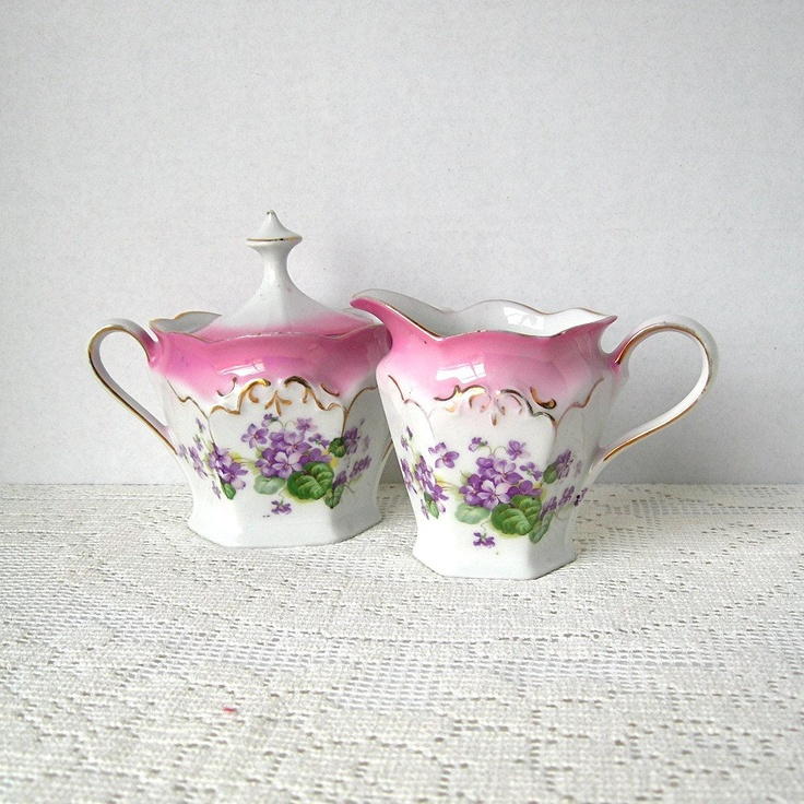 vintage porcelain cream and sugar germany bavaria early. Black Bedroom Furniture Sets. Home Design Ideas