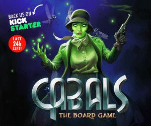 Cabals: The Board Game blog post look back on Kickstarter projects
