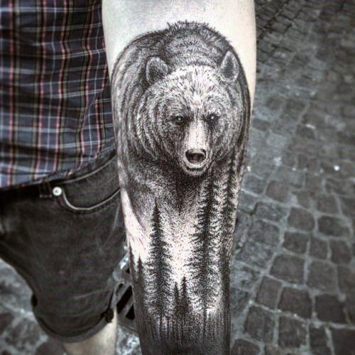Bear Forearm Tattoos For Men   tatuajes | Spanish tatuajes  |tatuajes para mujeres | tatuajes para hombres  | diseños de tatuajes http://amzn.to/28PQlav