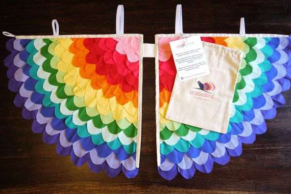 DEC 2014 VOGUE UK Xmas list Rainbow Costume wings by WittleBird