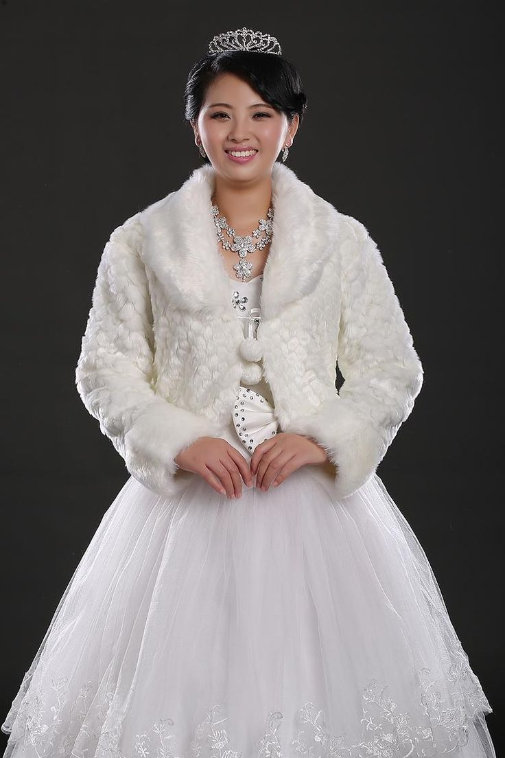 Best 25 wedding dress jackets ideas on pinterest long wedding 2015 adoration wedding dress jackets white fur faux long sleeve wedding dress jacket bolero winter cape coat bridal ombrellifo Choice Image