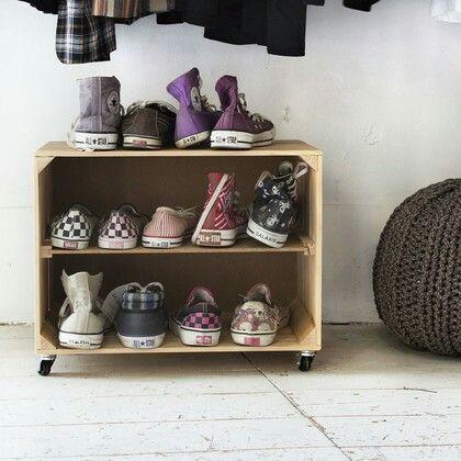 Mer enn 10 bra ideer om Schuhregal selber bauen på Pinterest - wohnideen zum selber bauen