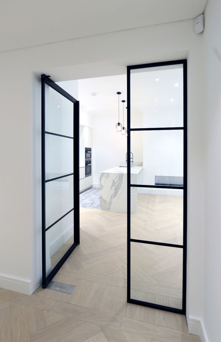 Clear glass interior doors - Iq Glass Recently Installed Their New Mondrian Internal Doors To This Modern Home These Steel