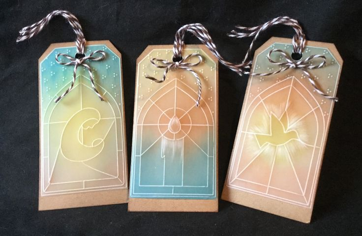 Christmas tags using the Groovi system by Jo Rice