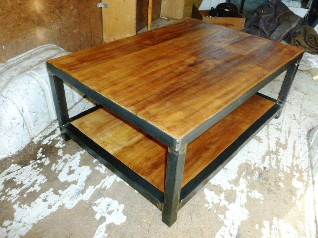 17 best images about creation brocantetendance meuble - Table basse loft industriel ...