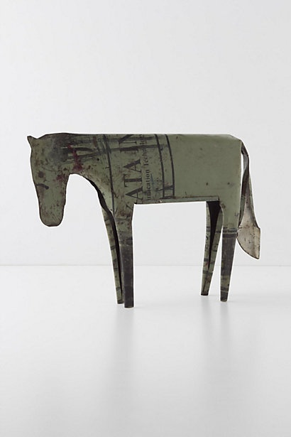 Reclaimed Metal Horse - Anthropologie.com