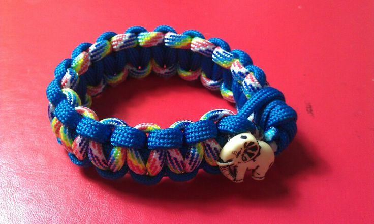 Children's paracord bracelet with elephant