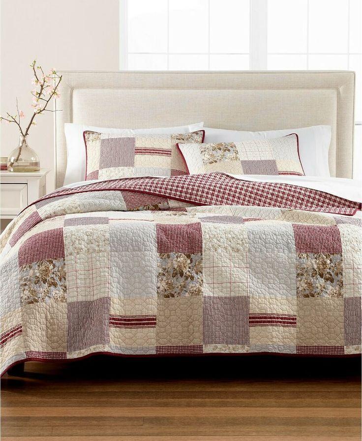 Martha Stewart Farmhouse Patchwork Reversible Cotton KING