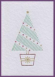 Xmas Tree Duo Prick 'n Stitch Cards