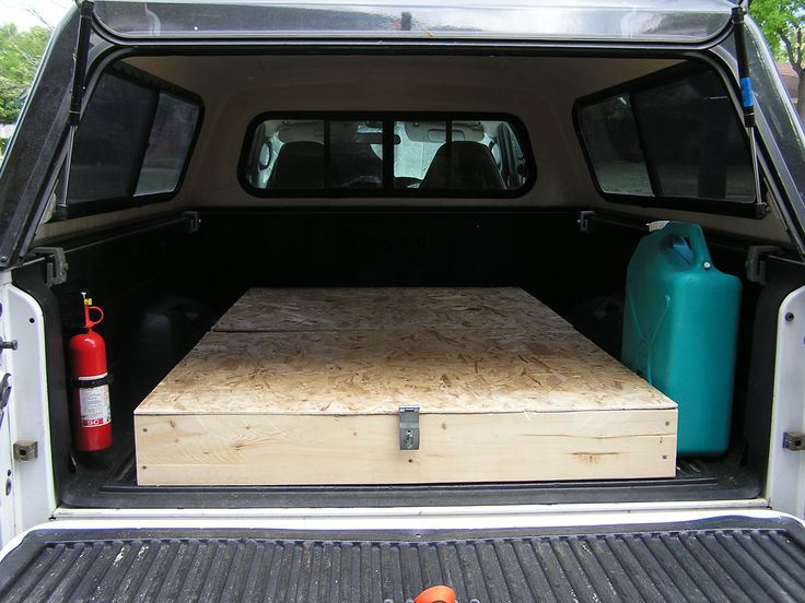 Homemade Truck Bed Storage And Sleeping Platform For