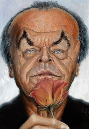 Jack Nicholson    Artist: Derren Brown    website: http://derrenbrown.co.uk