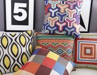 Couleur oreiller, moderne De Mode Géométrie coussin, linge taie d'oreiller, coussin décor à la maison canapé coussin, Oreillers décoratifs